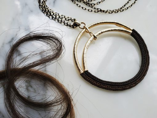14K Gold + Woven Hair Necklace